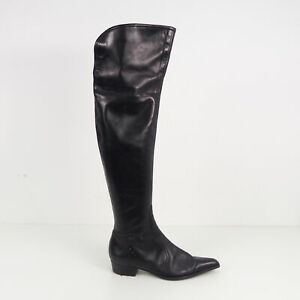 Leather Rossi Schwarz Zu Shoes Sergio GrEu Stiefel Details Leder Damen 38 Schuhe UpzVSqM