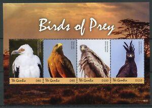 Gambie-2018-neuf-sans-charniere-oiseaux-de-proie-vautours-Eagles-cerfs-volants-4-V-M-S-II-timbres