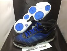 NEW ADIDAS BASKETBALL SHOES HEAT CHECK ADIPRENE DUKE BLUE BLACK SIZE 15