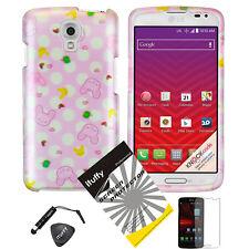Cute Pink Yellow Rabbit Hard Cover Skin Case - LG Volt LS740 F90 + Film & Pen