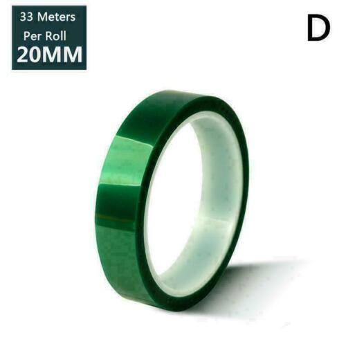 Rollenbreite 5mm-30mm S0K9 Heiß T7X M4W9 hitzebeständiges PET-Klebeband Grünes