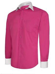 Berlioni Men/'s Regular Fit Tone Dress Shirt French Blue