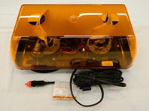 "ECCO Reflex 5590A-VM Amber LED Amber Lens 15/"" Mini Light Bar Vacuum Magnetic Mt"
