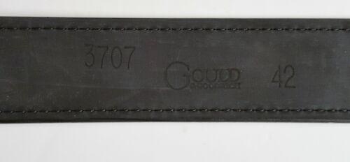 """NEW GOULD /& GOODRICH SHOOTER/'S BIKER/'S BELT BLACK B191 1.5/"""" SIZES 28-58 US MADE"""