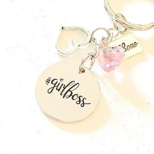 Girl Boss Silver Purse Charm//Keychain Gift For The Boss Babe Handbag//Backpack