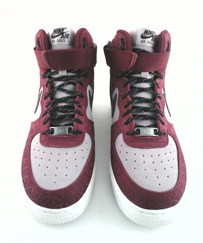 Nike air force 1 schuhe sneaker hohe spitze schuhe 1 maroon / schwarz / plum frauen uns 8,5 ac6c12