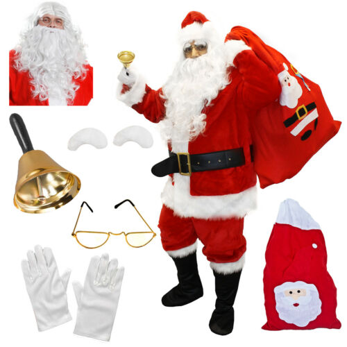 CHOICE DELUXE BUDGET SANTA CLAUS COSTUME FATHER CHRISTMAS XMAS FANCY DRESS LOT