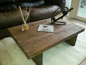 CHUNKY-RUSTIC-RECLAIMED-STYLE-COFFEE-TABLE-HANDMADE-SOLID-WOOD-oak-stain