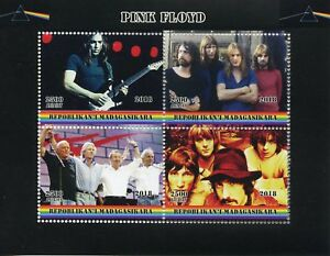 Madagascar-2018-CTO-Pink-Floyd-Rock-Band-4-V-M-S-Music-Guitares-timbres