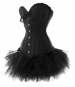 Corsage-Dress-Mini-Skirt-Corset-Tutu-Black-Gothic-Laundry-Bags