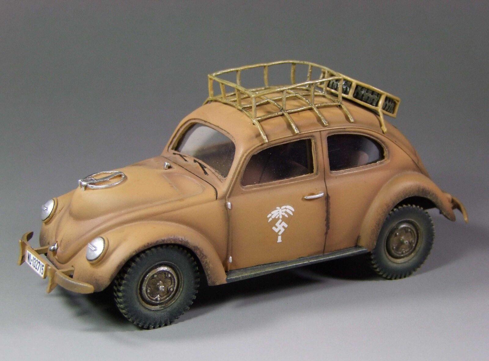 1 30 WW2 German Volkswagen Beetle DAK Wood burning version EC002