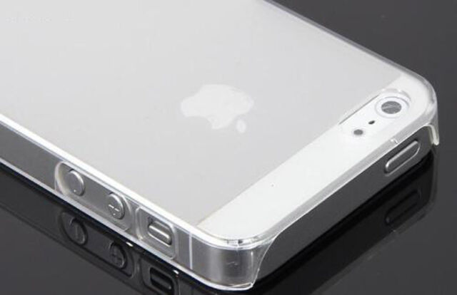 Funda Carcasa dura para iphone 5 y 5S 5 S SEMI TRANSPARENTE