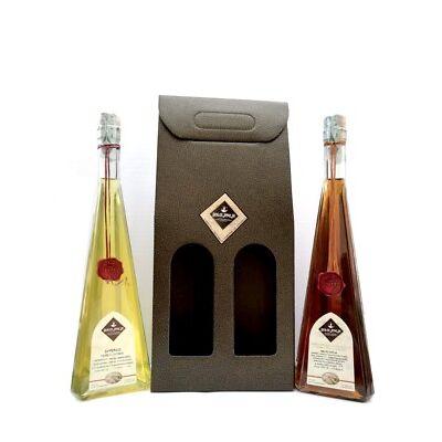 Conf. Regalo, 2x500ml: Amaro Aveja e Liquore allo Zafferano - Dolci Aveja