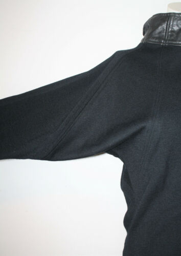 in nera Liz maglia M Maniche in lana Giacca di Robert finiture Roberts a Elliot pelle pipistrello con 8Ir8q