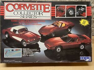 MPC CORVETTE COLLECTOR SERIES MODEL KIT SET #6381 - OPEN BOX SEALED BAGS
