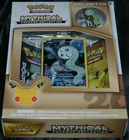 Meloetta Mythical Pokemon Collection Box Trading Cards Game Booster Pack