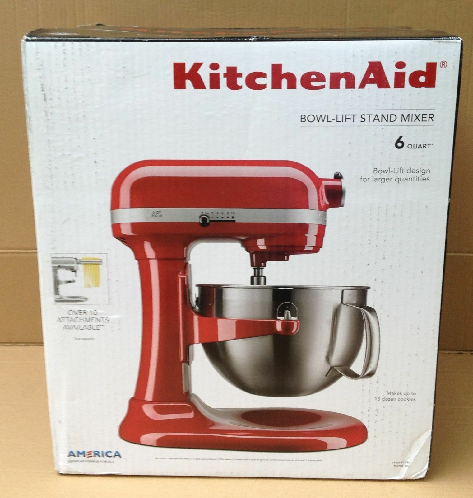 KitchenAid 6-quart Bowl-lift Stand Mixer - Emprire Red (KP26M9XCER on kitchen wall accessories, lg accessories, lace accessories, viking accessories, cannon safe accessories, nespresso accessories, nikon accessories, unique home accessories, foodsaver accessories, corelle accessories, marvel accessories, general electric accessories, garmin accessories, nike accessories, canon accessories, wolf accessories, garden tractor attachments and accessories, ikea accessories, microsoft accessories, yamaha accessories,