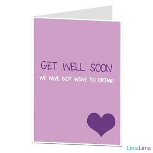 get well soon card funny sarcastic friend mate work colleague