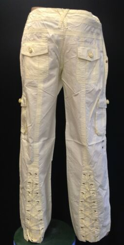 Womens Ladies New Trendy Chain Combat Style Trousers Sizes 8-14 3 COLOURS