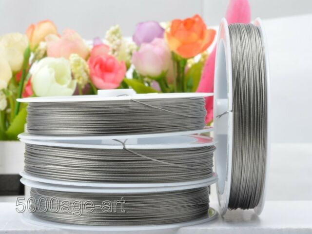 0.38mm 0.45mm 0.6MM steel wire tiger tail beads Jewelry cord thread Wires U pick