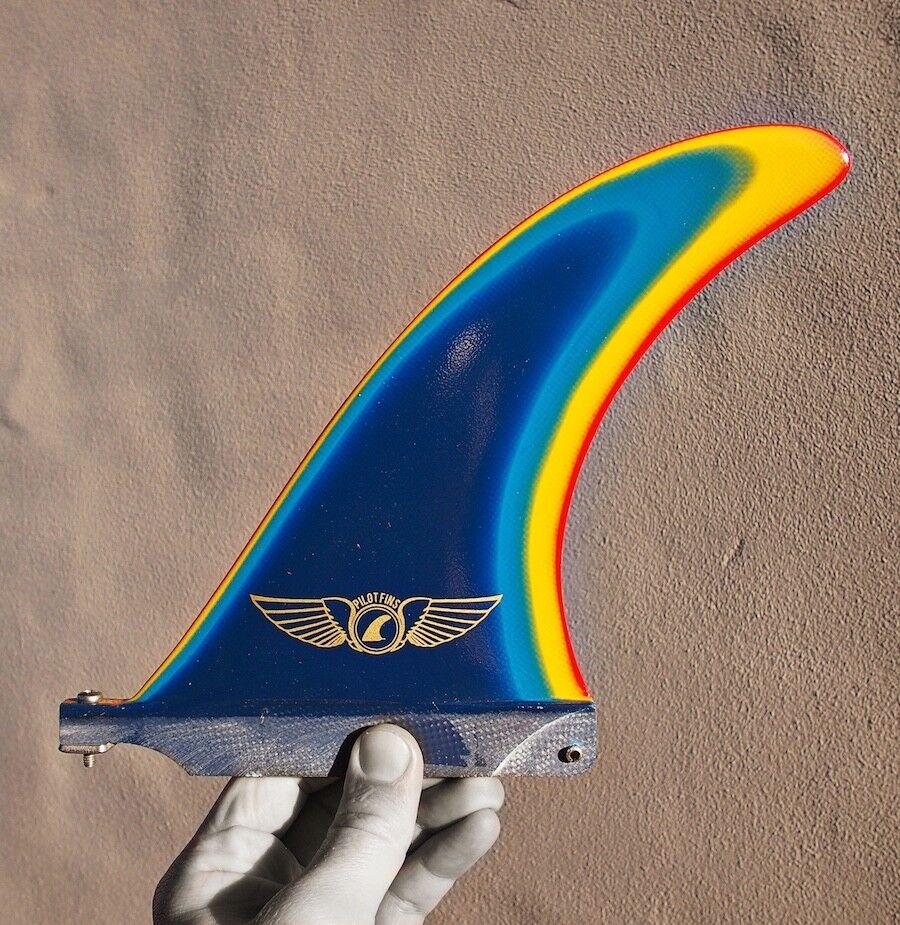 Pilot Fins - 7  Hercules - Multi Colour - Longboard Fin - Surfboard - Surf - New