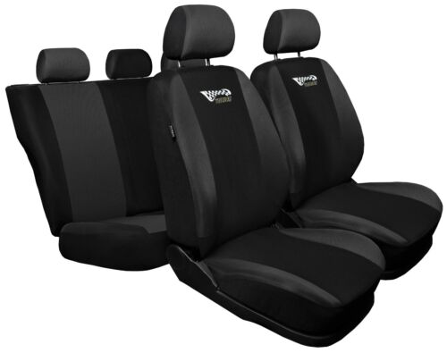 Full set car seat covers fit Nissan Note black//grey seat cover