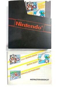 MARIO/ DUCK HUNT/ TRACK W/ Instruction Manual ORIGINAL NINTENDO NES GAME Tested!