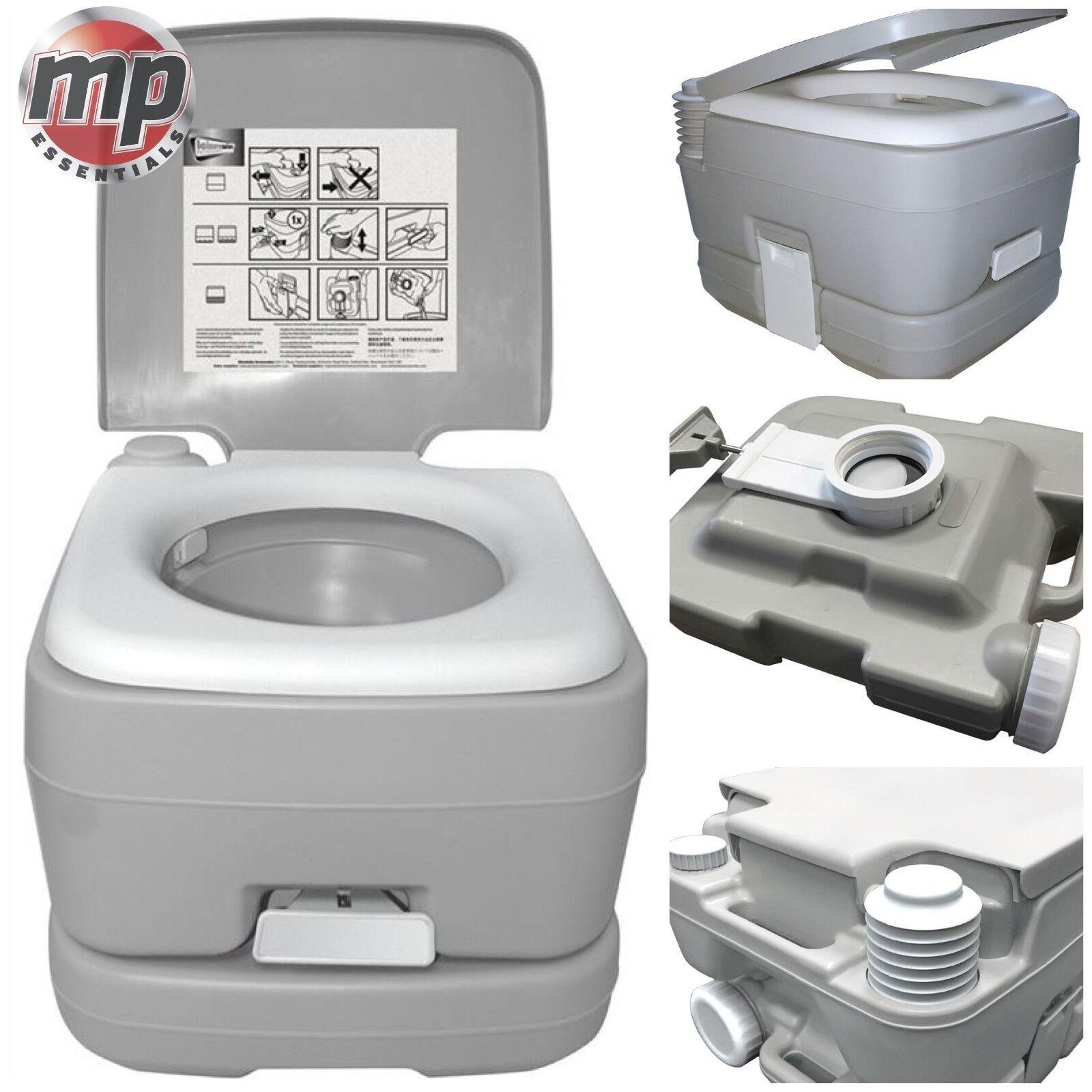 Leisurewize 10L campeggio viaggio portatile leggero lavaggio WC LooGrigio