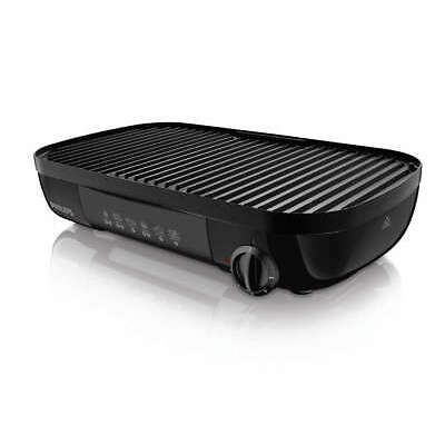 PHILIPS Daily Collection HD6321/20 Tischgrill 2000W gerippte Grillplatte