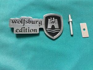 wolfsburg edition grille emblem vw golf polo tiguan. Black Bedroom Furniture Sets. Home Design Ideas