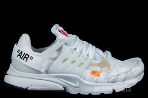 d9a7437c249b7 THE 10   NIKE AIR PRESTO OFF-WHITE WHITE Sz 4-13 BLACK CONE AA3830 ...