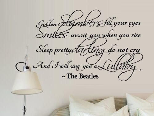 Beatles #1 ~ Applique Murale Sommeil d/'or