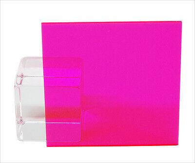 """Blue Fluorescent Acrylic Plexiglass sheet 1//8/"""" x 3/"""" x 3/"""" #9092 pack of 4"""