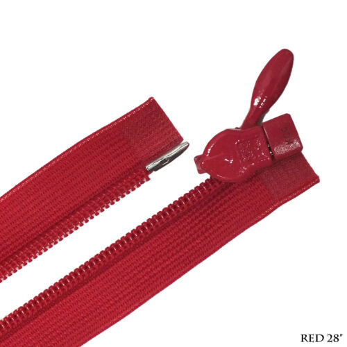 """28/"""" Rouge Qualité Invisible Zipper 1 Voies Séparation fin RARE objet"""