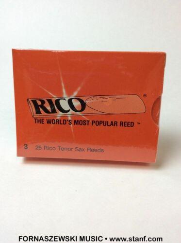 Rico Bb Tenor Saxophone Reeds Box of 25 Strength 2.5