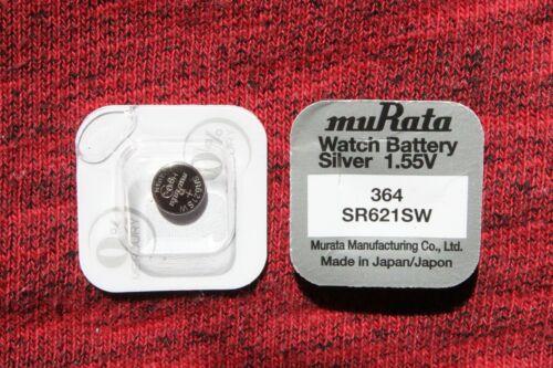 364 Knopfzellen  V364 SR621SW  SR621 AG1 Silver Sony 10 x Batterien muRata