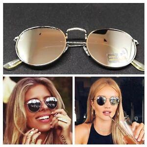 Talsohle Preis großartiges Aussehen heiß seeling original Details zu AYZA Sonnenbrille Round Rund Metal Damen So Hot Real Silber  Verspiegelt