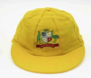10 X Baggy Yellow Australia Cricket Test Cap Melton Wool One Size Fits