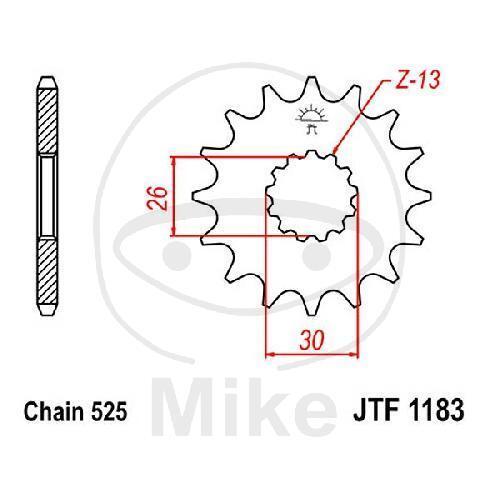 KOYO Pignon 18z Division 525 feinverzahnt diamètre intérieur 26//30 jtf1183.18