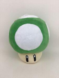 Nintendo-Super-Mario-Bros-Green-1-Up-Mushroom-8-034-Plush-Stuffed-Toy-Official