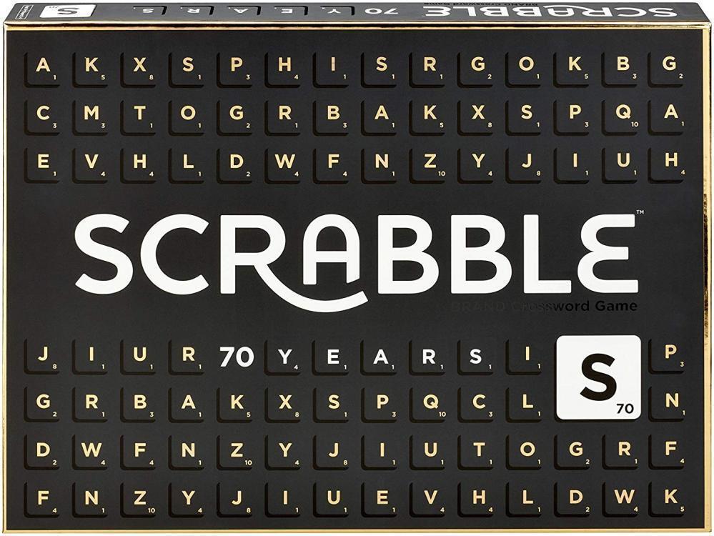 Mattel Games GCT19 Scrabble 70 Jahre Jubiläumsedition Wörterspiel,...
