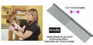 ANDIS-Pro-STAINLESS-STEEL-7-1-2-034-FINE-COARSE-Greyhound-Style-COMB-Pet-Grooming
