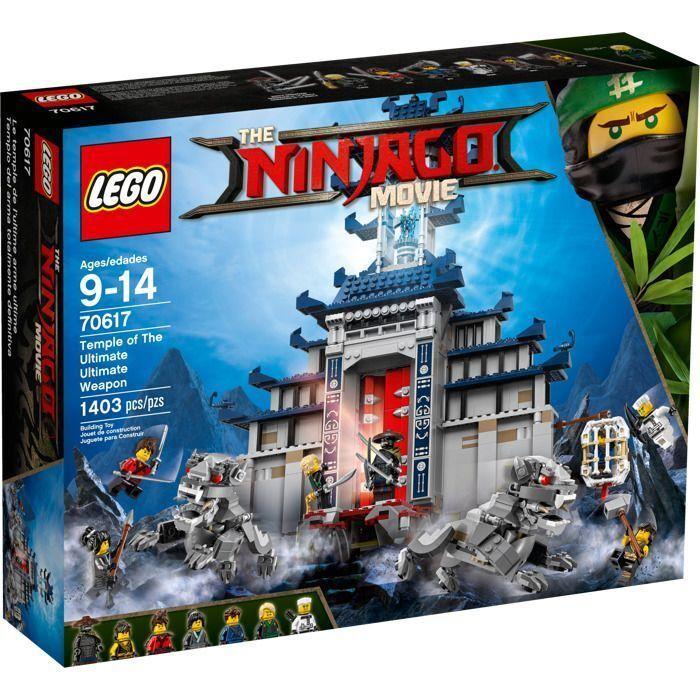 LEGO 70617 The Ninjago movie Tempio delle Armi Finali costruzioni nuovo imballat