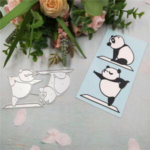 Stanzschablone-Panda-Yoga-Hochzeit-Weihnachts-Oster-Geburtstag-Karte-Album-DIY
