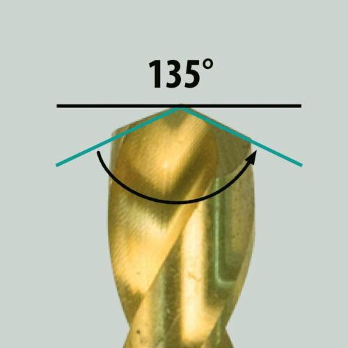 "HSS Drill Bit Titanium Coated 1//4/"" Hex Shank Jobber Length Twist Metal Drill Bit"