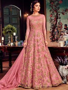 d2553ea66dd Image is loading Indian-Designer-Latest-Bollywood-Long-Style-Anarkali-Suit-
