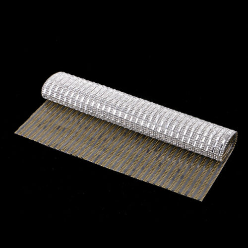 240x400mm 3x7mm Verre Strass Feuille Banding Bridal perle Iron On Applique