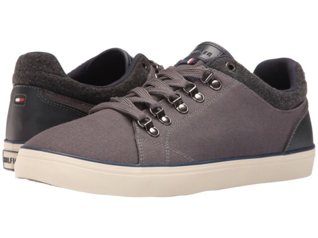 4fdc26c445cd17 Tommy Hilfiger Men s Waxed Canvas Sneaker Dark Gray Size US 13 for ...