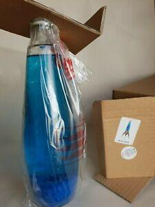 NEU OVP Mathmos Telstar blue blue Ersatzflasche Ersatzglas Lavalampe EU blau