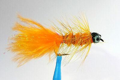 1 x Mouche peche Streamer Dognobbler Chartreuse H8//10//12 fly fishing mosca